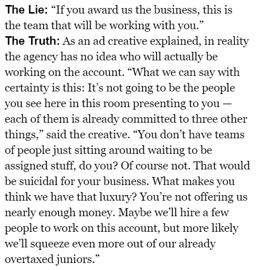 The White Lies Agencies Tell Clients